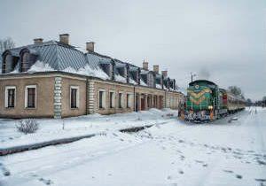 amtrak train snowed in